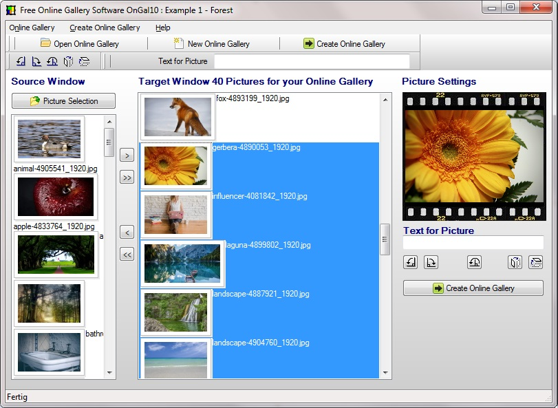 HTML image gallery