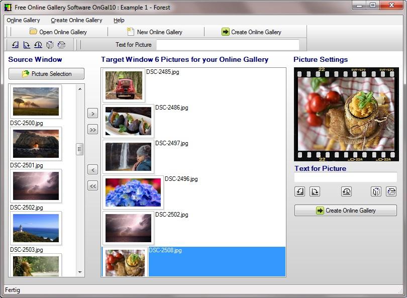 HTML Image gallery generator