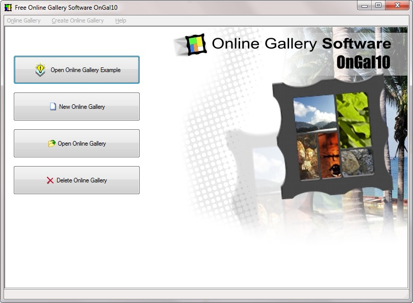 Online gallery software